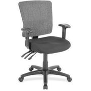 Lorell Fabric Computer and Desk Office Chair, Fixed Arms, Black (RTL156549)