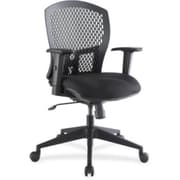 Lorell Flex Plastic Computer and Desk Office Chair, Adjustable Arms, Black (RTL156512)