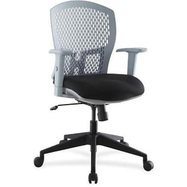 Lorell Flex Plastic Computer and Desk Office Chair, Adjustable Arms, Gray (RTL156513)