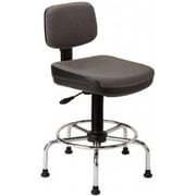 Alvin ALV6462 Standard Drafting Chair with Gas Cylinder, Black