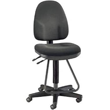 Alvin Monarch Fabric Executive Office Chair, Armless, Black (ALV6458)