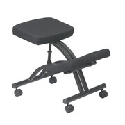 Jobri Kneeling Fabric Kneeling Office Chair, Armless, Black (JBR186)