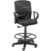 Alvin Salambro Mesh Conference Office Chair, Adjustable Arms, Black (ALV6461)