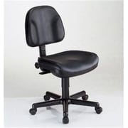 Alvin Premo Leather Computer and Desk Office Chair, Armless, Black (ALV6359)