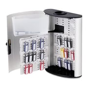 "Durable 1968-23 Key Box Plus, 54-Key, 11 3/4"" x 4 5/8"" x 15 1/2"", Brushed Aluminum/Silver (AZDURA1968-23)"