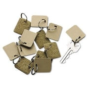 "Securit Blank Velcro Tags 12/Pack 1"" square Beige (AZSECU04985)"