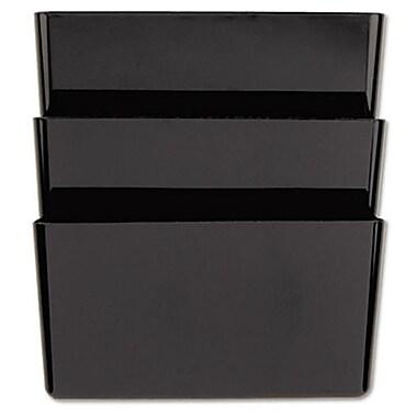 Universal Recycled Wall File, 3 Pocket, Plastic, Black (AZUNIV08121)