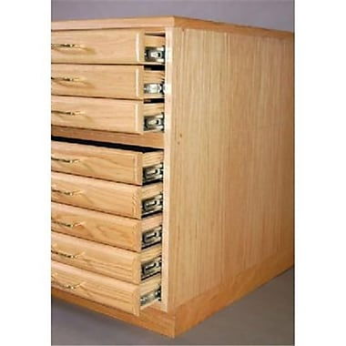 SMI Natural Oak Steel Drawer Guide Flat File Flush Base (ALV35549)