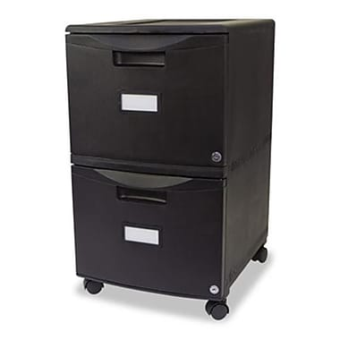 Stx Two Drawer Mobile Filing Cabinet, 14.75