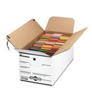 Universal Economy Storage Box, Tie Close, Fiberboard, White, 4/Carton (AZUNIV751204)