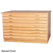 SMI 3042,3D Medium Oak Finish 3 Drawer Flat File