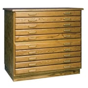 SMI Flat File Flush Base, Medium Oak (ALV35606)