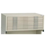Alvin Ten-Drawer File, White (ALV6169)