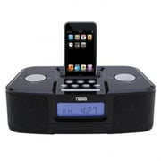 Naxa NI,3103 Digital Alarm Clock Radio with Dock for iPod, Black