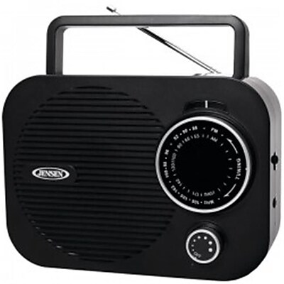 Jensen Portable AM/FM Radio with Auxillary Input OCI9732, Black
