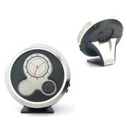 Aeropen International Metal Desktop Dual-Face Analog and Digital Clock with Alarm Function, White Folded Box (ARPN675)