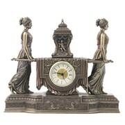 Unicorn Studios WU75563V4 Women Carrying Urn on the Litter Mantel Clock