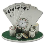 """Ruda Overseas 3 1/2"""" x 3 1/2"""" Deck Cards Clock (RDOV057)"""
