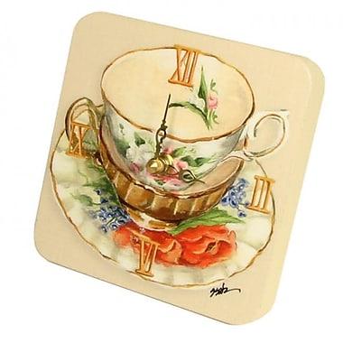 Lexington Studios Tea Cups Orange Tiny Times Clock (LXNGS379)