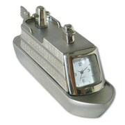 "Ruda Overseas Matt and Shinny 4-1/2""H x 1-3/4""W Cruise Ship Clock (RDOV045)"