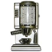 "Ruda Overseas 3/4"" x 1-1/2"" x 1-1/2"" Metal Coffee Maker Clock (RDOV074)"