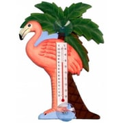 Songbird Essentials Flamingo and Palm Tree Large Window Thermometer (GC16742)
