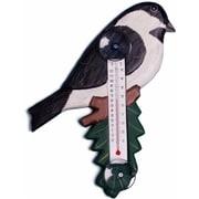 Songbird Essentials Chickadee on Branch Small Window Thermometer