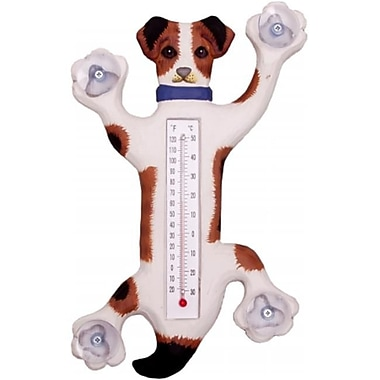 Songbird Essentials Climbing Jack Russell Small Window Thermometer