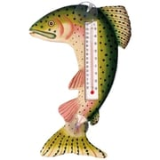 Songbird Essentials Leaping Trout Large Window Thermometer