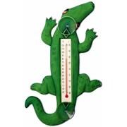 Songbird Essentials Climbing Green Alligator Small Window Thermometer