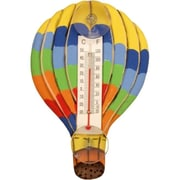 Songbird Essentials Hot Air Balloon with Horizontal Stripes Small Window Thermometer