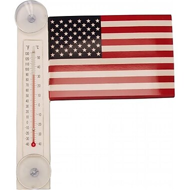 Songbird Essentials US Flag Small Window Thermometer