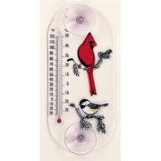 Aspects Cardinal,Chickadee Window Thermometer