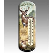 American Expedition Whitetail Deer Back Porch Thermometer (IDNM611)