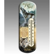 American Expedition Gray Wolf Back Porch Thermometer (IDNM615)