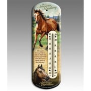 "American Expedition Back Porch Mustang Thermometer, 14.75""L x 0.75""H x 5.25""W (IDMN616)"