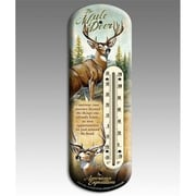American Expedition Back Porch Thermometer, Mule Deer (IDMN620)