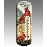 American Expedition Back Porch Thermometer, Cardinal (IDMN622)