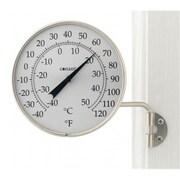 Conant Custom Brass Dial Thermometer Satin Nickel Finish
