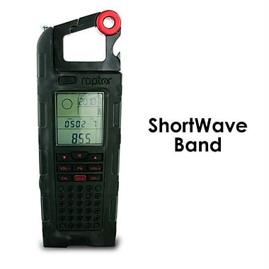 Eton Raptor Solar Charge Emergency and Shortwave Band Radio, Black (XS237833)