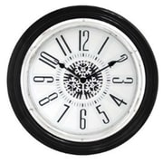 World Friendly World Gear In Motion Black and White Clock (WRFW035)