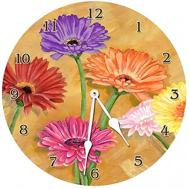 Lexington Studios Gerber Daisy 18in Round Clock (LXNGS167)