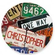 Lexington Studios 23075R License Plates Round Clock