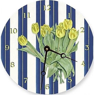 Lexington Studios 23088 , LR Yellow Tulips 18 in. Round Clock