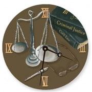 Lexington Studios 23102R Scales of Justice Round Clock