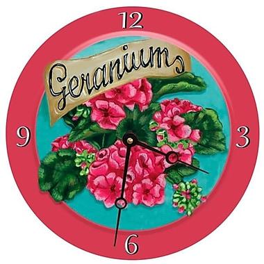 Lexington Studios Geraniums Round Clock, 18