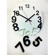 World Friendly World Solid Wood 13in White Gravity Clock (WRFW016)