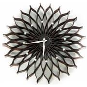 World Friendly World Espresso Sunflower Nelson Bent-Wood Clock (WRFW022)