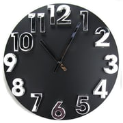 World Friendly World Wooden 19in Clock with Bold Silver Easy-to-Read Numbers (WRFW054)