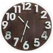 World Friendly World Espresso Solid Wood Clock with Chrome Silver 3-D Numbers (WRFW025)